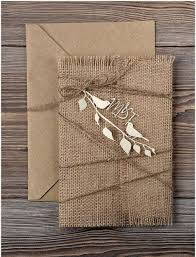 Rustic Invitation With Burlap And Decor Details