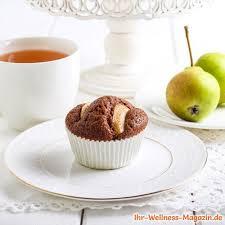 einfache schoko birnen muffins low carb rezept ohne zucker
