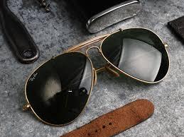 vintage leather ray ban aviator sunglasses louisiana bucket brigade