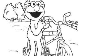 Bicycle Elmo Coloring Pages
