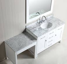 Bath Vanities With Dressing Table by Bathroom Vanities With Makeup Desk Vanity Station Modern Table