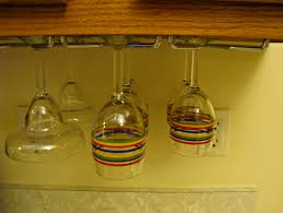 Under Cabinet Stemware Rack by Kitchen Wine Glass Rack