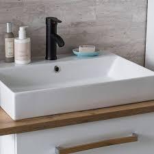 badezimmermöbel set dabo 04 in weiß mit landhaus eiche b h t 150 200 50 cm