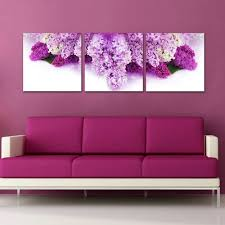 Purple Pintura Oleo Flores Abstract Famous Canvas Prints Picture Modern Wall Art Painting For Living Room Bedroom Decoration In Calligraphy From