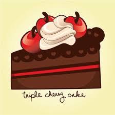 How to Draw a Sweet Cherry Chocolate Cake Slice