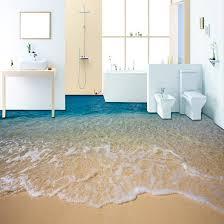 nach 3d strand meer wasser wohnzimmer schlafzimmer bad boden wandmalereien selbst adhesive vinyl tapete wohnkultur de parede