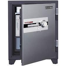 Steel Gun Cabinet Walmart by First Alert 3 12 Cu Ft Steel Fire And Anti Theft Safe With