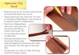 make a tile roof school project how to diorama