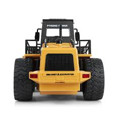 100 Remote Control Trucks For Kids HuiNa1520 RC Car 6CH 114 Metal Bulldozer Charging RTR