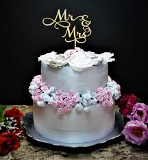Custom Mr Mrs Wedding Cake Topper Rustic And