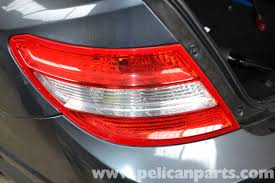 mercedes w204 taillight bulb replacement 2008 2014 c250
