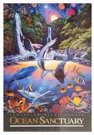 100 Christian Lassen Prints Ocean Santuary By Riese 24x36 Glossy Finish Art Print Print Alone Or Framed In Black Frame