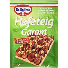 dr oetker hefeteig garant 18er pack je tüte 32 g trockenbackhefe mit backpulver zum backen kuchen und hefebackwaren für süße und herzhafte