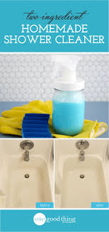 try this powerful homemade shower cleaner soap scum remover