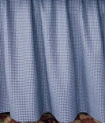 Logan Gingham Check Print 18 Inch Dust Ruffle Bed Skirt Queen Size