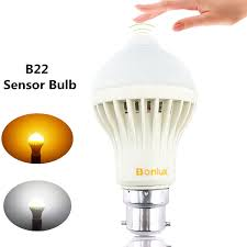 b22 led motion sensor light bulb 5w bayonet b22 with 50w halogen