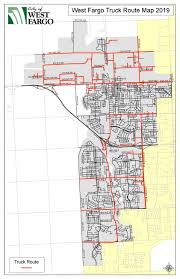 100 Truck Route Map Overdimensional West Fargo ND