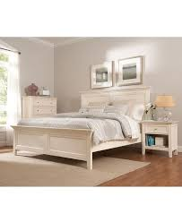 Simple Bedroom Design with Macys Sanibel Bedroom Furniture Set White Wooden Bed Frame White Wooden Bed Frame and Clear Glass Table Lamp Shade