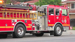 100 Red Fire Trucks Truck Engine Responding W Flashing Lights Parked