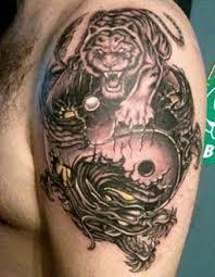 Asian Dragon Tiger Tattoo Shoulder