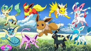 Pokemon Eevee Evolution Eeveelution Vaporeon Espeon Sylveon Umbreon Coloring Videos For Kids