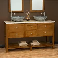 Antique Bathroom Vanity Double Sink by Narrow White Oak Wood Bathroom Vanity Table With Gray Tone Vessel