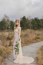 Boho Glam Wedding Dress In Blush