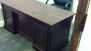 Sauder Shoal Creek Desk by Sauder Executive Office Desk Assembly Service Video In Dc Md Va By