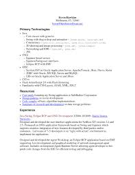 Core Java Experience Resume