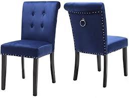 keepreaper 2er set blau samt esszimmerstuhl mit ring küchenstuhl holzbeinen polsterstuhl blau 2