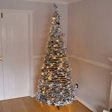 7ft Christmas Tree Uk by 7ft Large Quick Pop Up Christmas Tree Decorated 200 Led Lights