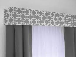 inspirations window valances with gray geometric cornice board