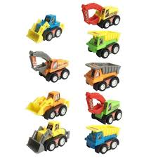 Amazon.com: Construction Vehicles Pull Back Toy Cars Bulldoze ...