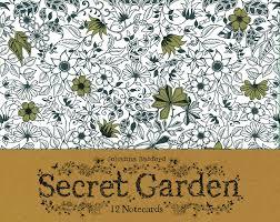 Secret Garden 12 Notecards Amazoncouk Johanna Basford 9781856699471 BooksAdult ColoringColoring
