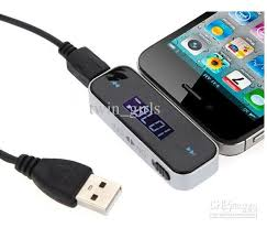 Wireless 3 5mm Fm Transmitter for IPhone 4S & All Cell Phones