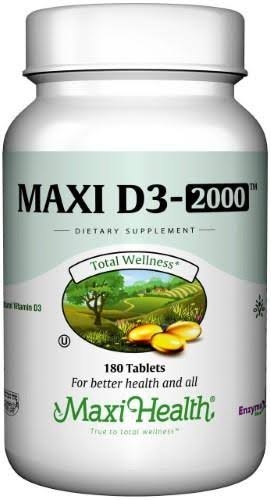 Maxi Health Maxi D3-2000™ Supplement - 180 Tablets