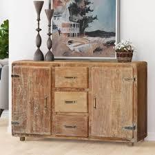 Monty Multicolor Two Door Rustic Reclaimed Wood Accent Storage