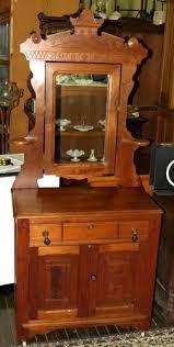 antique wash stand victorian walnut dresser 67 tall mirror top