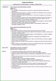 Exceptional Hr Business Partner Resume Sample That Get ...