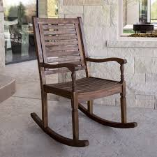 Acacia Wood Deep Seated Patio Rocking Chair | Free Shipping