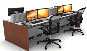 Nextech Cable Help Desk by Great American Desk Company Nextech Console System Solutions