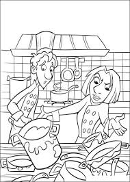 Click To See Printable Version Of All Is Dirty In The Kitchen Coloring Page