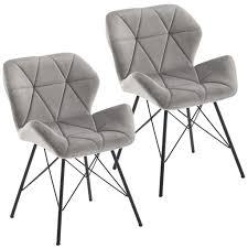 duhome 2er set esszimmerstuhl stoff samt grau konferenzstuhl vintage design stuhl retro