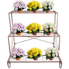 Outdoor Patio Plant Stands by Metal Plant Stand 3 Tier Flower Pot Holder Black Outdoor Garden