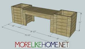 more like home diy plans for bench and planters diy pinterest