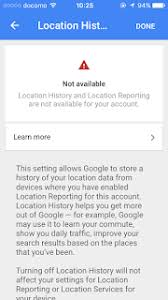 Location history is not available on my iPhone Google Product