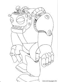 Print Zombot Plants Vs Zombies Coloring Pages