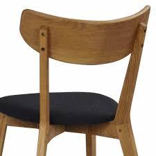 eichenholz stuhl mit filz sitz blanco 2er set