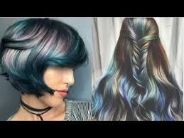 2017 Spring Summer Hair Color Trends Oil Slick Coloring