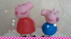 peppa pig cake decorations how to make fondant peppa pig and george cake topper figurines